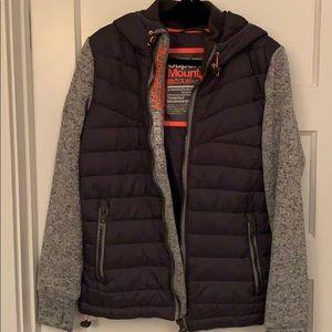 Superdry Mountain storm hybrid zip hoodie